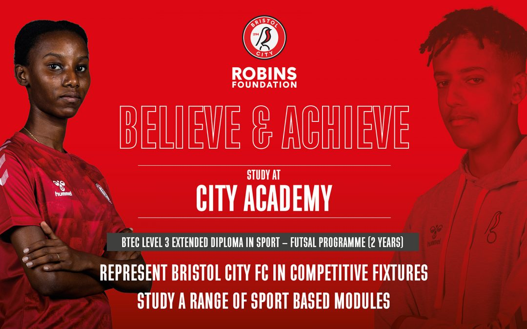Post 16 courses with Bristol City Robins Foundation at City Academy