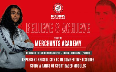 Post 16 courses with Bristol City Robins Foundation at Merchants Academy