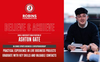 Degree courses with Bristol City Robins Foundation at Ashton Gate